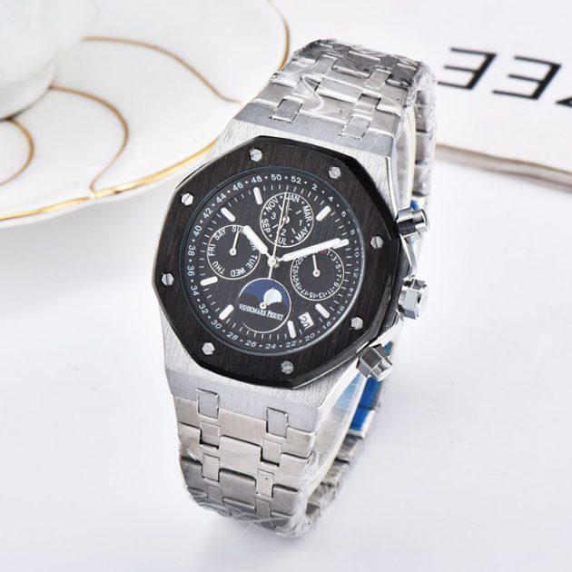7 needle running second full function quartz watch