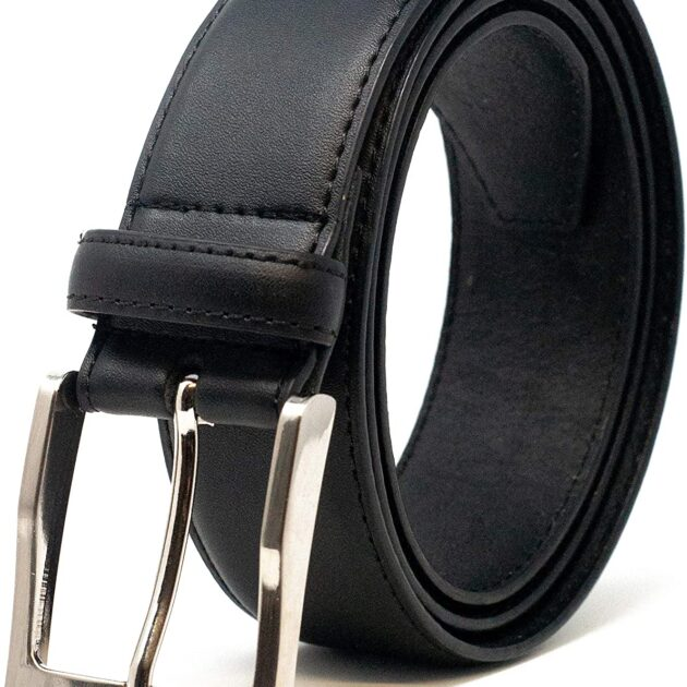 """Mens 38mm (1.5"""") Feather Stitched Coated Leather Belt"""