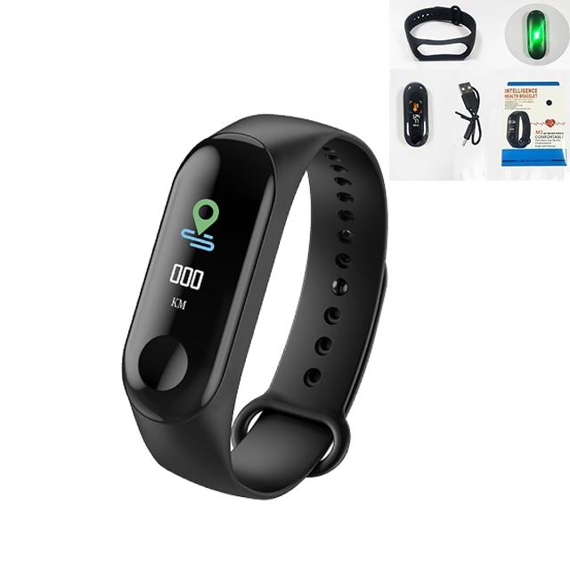 M3 Smart Band Fitness Tracker Smart Bracelet Heart Rate Monitor Watches Waterproof Sport Wristband For Men Women Smartband