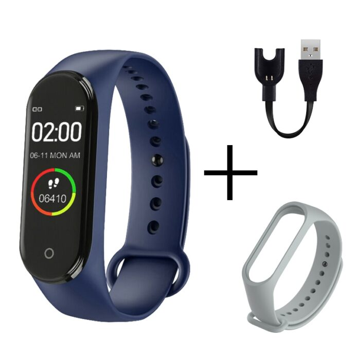 FXM M4 Men Women New Smart High Quality New Label Belt Sports Blood Pressure Heart Rate Monitor Watch Monitor Waterproof Fitness